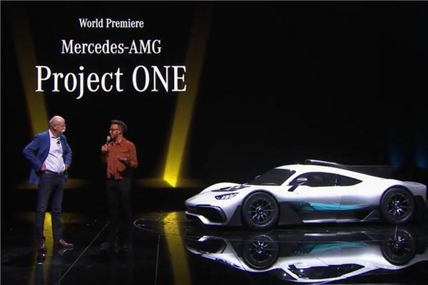 نمایشگاه (۲۳) IAA۲۰۱۷ - رونمایی دیدنی مرسدس AMG پروژه یک با حضور لوییس همیلتون راننده فرمولا۱