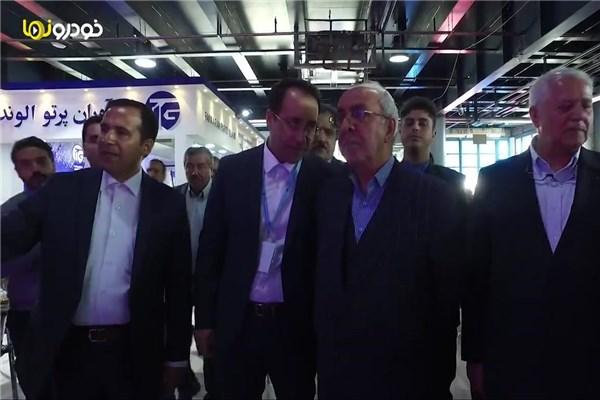 افتتاح دوازهمین نمایشگاه قطعات، لوازم و مجموعه های خودرو توسط  معظمی رئیس هیات عامل سازمان گسترش و نوسازی صنایع ایران