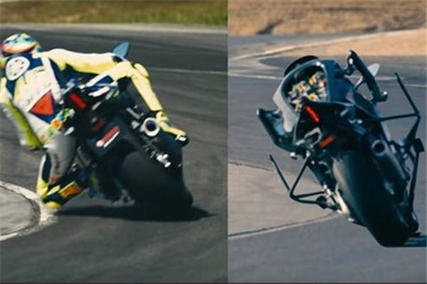 مسابقه جالب موتوبات یاماها(خودران) با والنتینو روسی قهرمان چند دوره مسابقات موتور GP