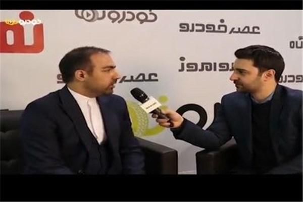 اختصاصی خودرونما - مصاحبه با علی نقی مدیر عامل داتیس خودرو در نمایشگاه خودرو تهران