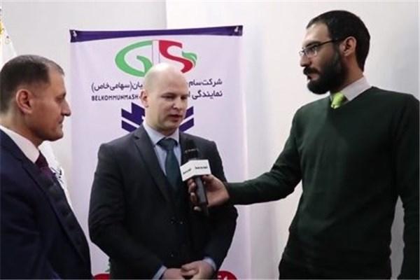 اختصاصی خودرونما - مصاحبه با نماینده بانک بلاروس در حاشیه نمایشگاه حمل و نقل تهران