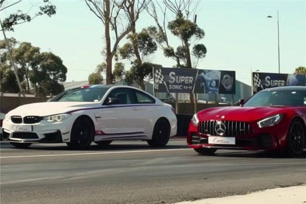 جدال نفس گیر درگ بین BMW M۴ DTM و Mercedes AMG GTR - قسمت اول