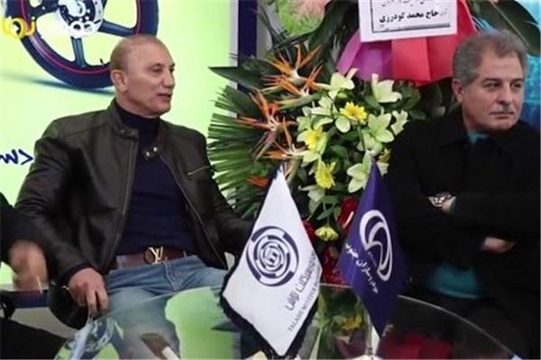 اختصاصی خودرونما - ایران رایدکس: حضور پیشکسوتان فوتبال پرسپولیس و استقلال در غرفه شرکت صنعتی تلاش