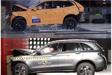 مقایسه تست تصادف ۲۰۱۸ Volvo XC۶۰ vs Mercedes GLC