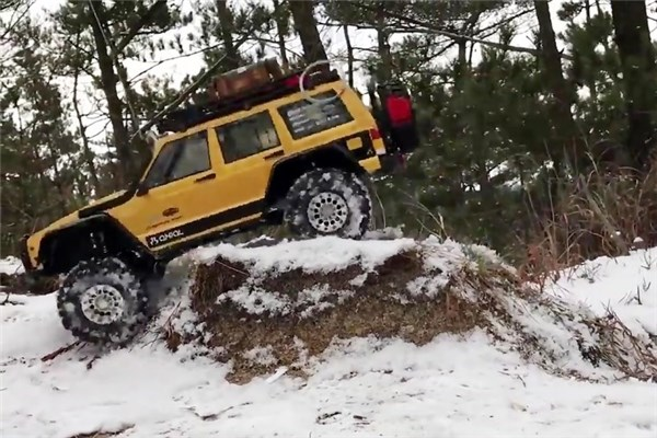 آفرود دیدنی RC ها در جنگل و برف