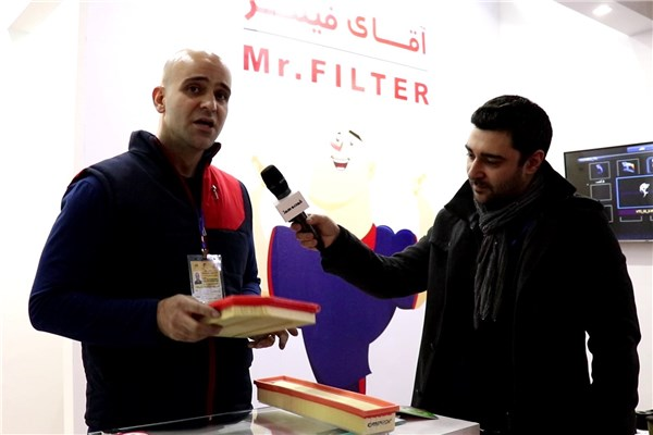 بررسی انواع فیلتر همراه با آقای فیلتر در نمایشگاه قطعات خودرو ۹۷