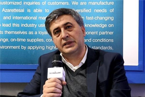 مصاحبه با پایدار رئیس انجمن قطعه سازان تبریز در نمایشگاه قطعات خودرو ۹۷