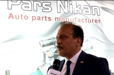 مصاحبه با محمد رضایی مدیرعامل شرکت پارس نیکان در نمایشگاه قطعات خودرو ۹۷