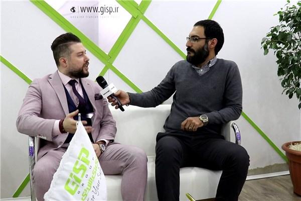 گفتگو با رحیمی نژاد مدیرعامل گروه GISP در نمایشگاه قطعات خودرو ۹۷